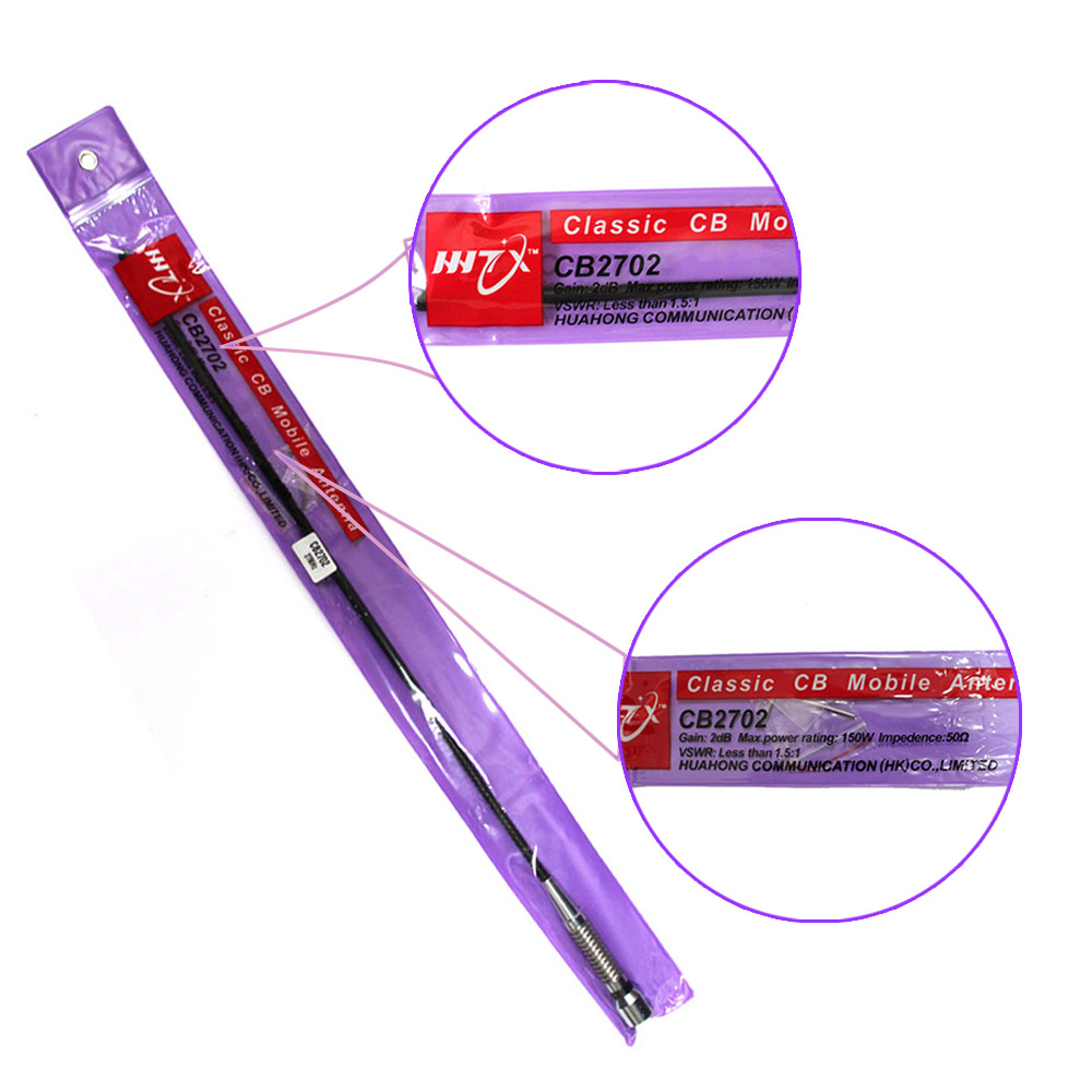 HuaHong CB2702 26-30MHz classique CB antenne Mobile PL259 connecteur 27MHz Radio pour CB Radio CB-40M AR-925 AT-6666 AT-5555N CB-27