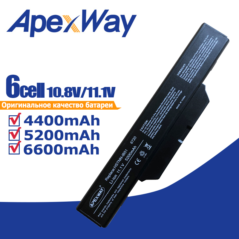 Apexway 6 Cells Laptop Battery for <font><b>HP</b></font> Compaq 615 Compaq 610 Compaq 550 6720 6720s 6730 6735s 6820 <font><b>6820s</b></font> 6830 6830s image