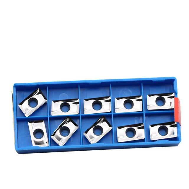 10 sztuk APKT1604 PDFR MA DH01 wkładki z węglika aluminium frezowanie dla młyn BAP 400R frez aluminium miedzi narzędzie