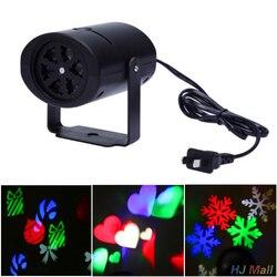 Odkryty Xmas ruchome musujące LED ogród laserowe światełka świąteczne projektor US/ue