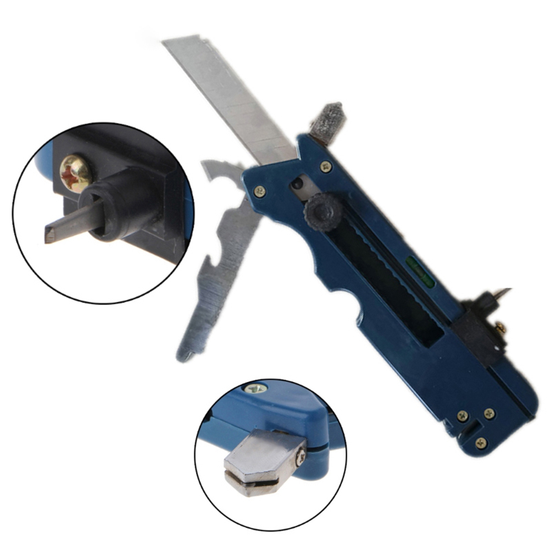 Professional Tile Plastic Bottle Glass Cutter Six Wheel Metal Cutting Kit Tool Multifunction Cutter Push Knife