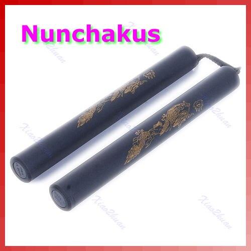 Arma nunchucks acolchoado espuma dragão acolchoado treinamento nunchuck artes marciais brinquedo 448c