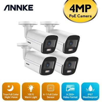 ANNKE 4MP Ace Full Color Night Vision POE IP Camera H.265+ Video Surveillance Cameras Warm Light Security Camera CCTV Camera Kit 1