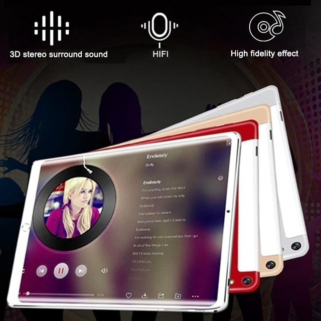 New 10 Inch 6G+128GB Tablet Ten Core 4G Network WiFi Tablet PC Android 9.0 Screen Dual SIM Dual Camera Rear  Kids Tablet 3