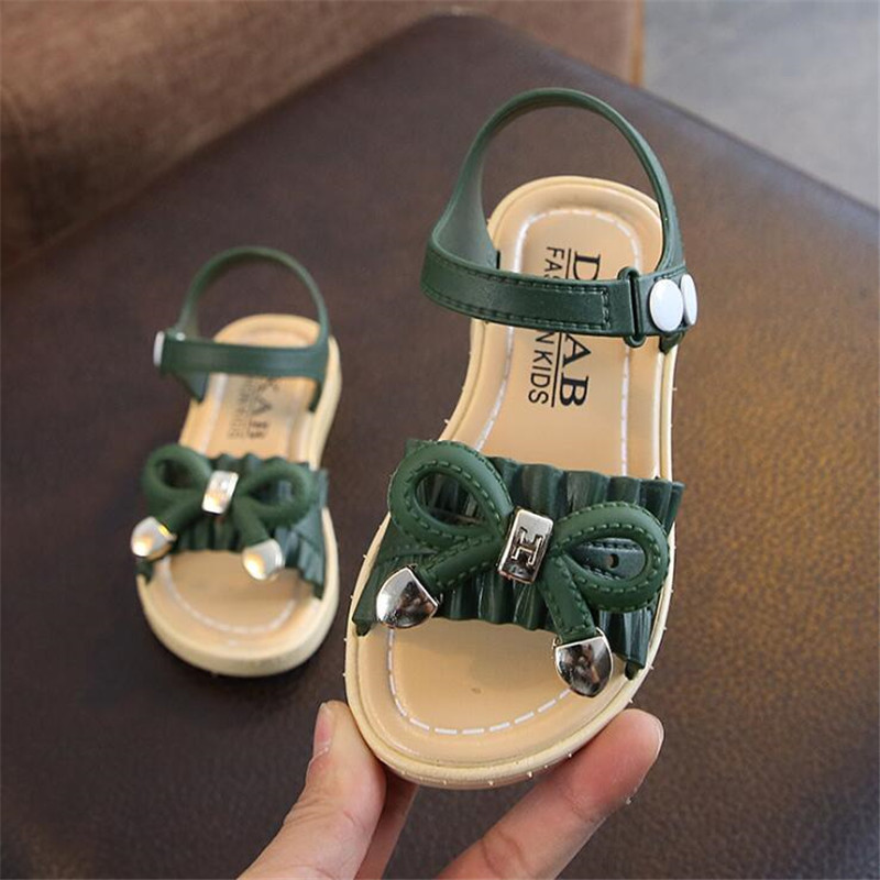 2020 Summer Kids Sandals For Girls Princess Shoes Children Beach Little Girls Open Toe Flat Pearl Casual Sandals Fashion Party