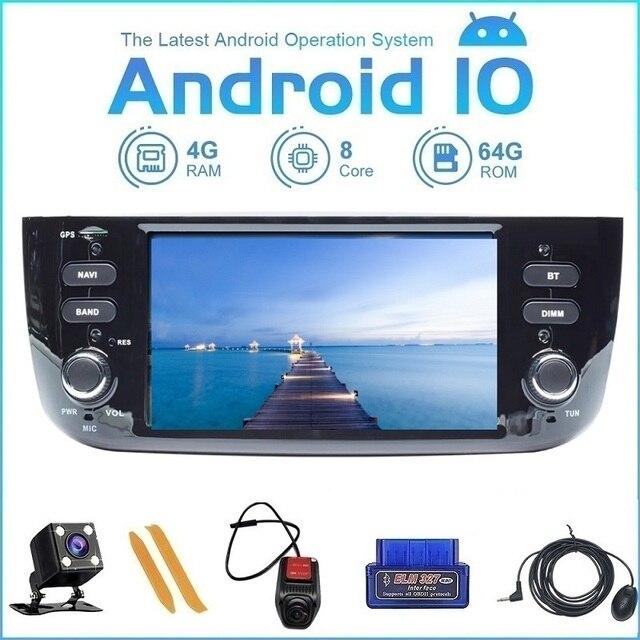 Zltoopai android 10.0, rádio gps navi player multimídia fiat/linea/punto evo 2012 2015 controle wi fi 3g/4g