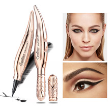 Yanqina Yan Chaina Feather Cool Black Eyeliner Dont Dizzy Dyed Fast Dry Waterproof Durable Makeup Pencil Beauty