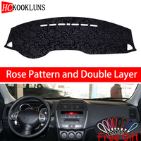 Rose Pattern For Mitsubishi ASX 2013 2014 2019 Dashboard Cover Car Stickers Car Decoration Car Accessories Interior Car Decals