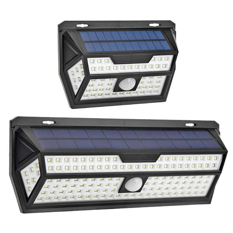 62/132 LEDs Waterproof Motion Sensor Solar Powered Wall Lamps Outdoor Light