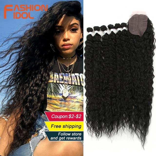ファッションアイドルアフロ変態カーリーヘア黒人女性のためのソフトロング 30 インチオンブル黄金人工毛熱にくい