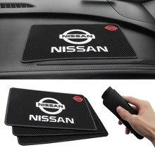 Alfombrilla antideslizante para salpicadero de coche, accesorios de Interior para Nissan, Nissan, Nismo, Tiida, Teana, Skyline, Juke, x-trail, 1 Uds.
