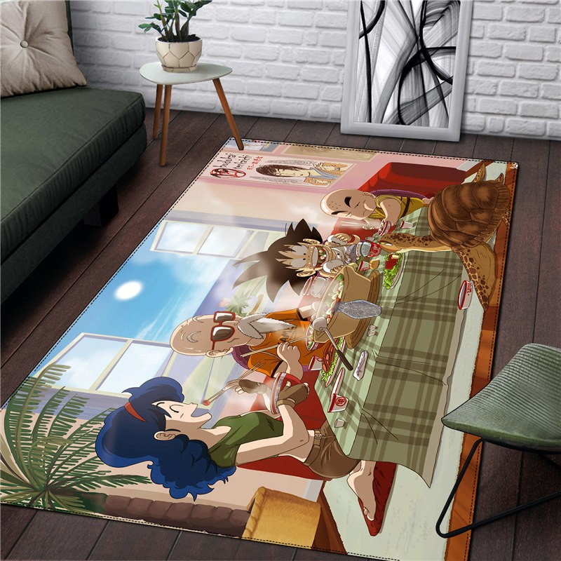 Dragon Ball Carpet Rug Home Square Carpet Kitchen Room Funny Boy Christmas Gift Anime Living Room Fashion RUG Drop Ship