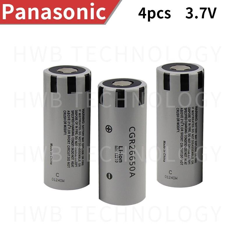 4 шт./лот Новинка для Panasonic оригинальная 26650 CGR26650A 3,7 в 2650 мАч литий-ионная аккумуляторная батарея Бесплатная доставка