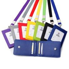 1 Cordón de soporte de tarjetas, correa para el cuello, soporte de credencial para el personal, tarjeta de identificación de autobús, funda para tarjeta de negocios, soporte para fotos, papelería de oficina