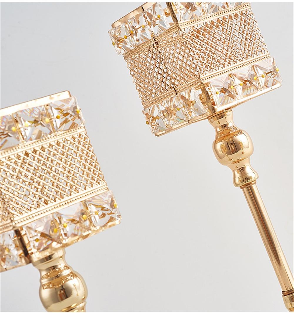 Metalni držač za svijeće Kristali za svijeće Stalak za vjenčanje - Kućni dekor - Foto 6
