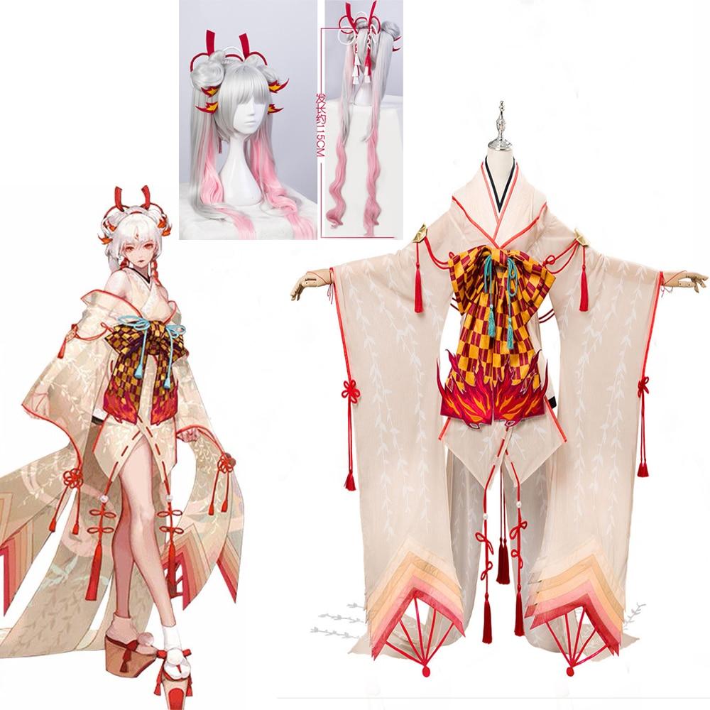 2020 Shiranui Onmyoji SSR Shiranui plongeur Ali Kimono Cosplay Costume nouvelle robe sexy Halloween fête costumes cadeaux livraison gratuite