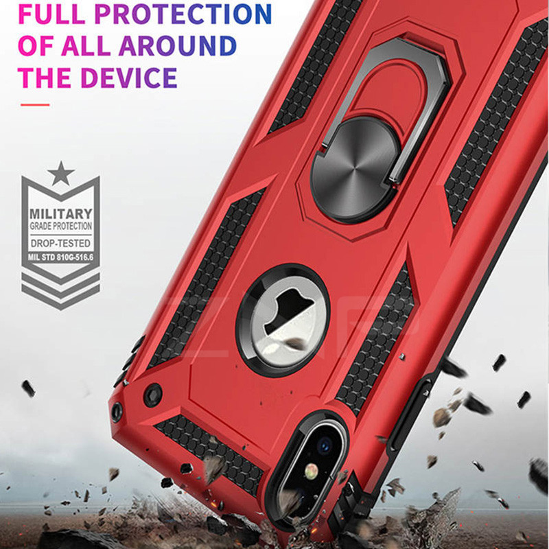 Luxury Armor Stand Phone Case For iPhone 11 Pro XS Max XR X Shockproof Magnetic Ring Cover For iPhone 6 6s 7 8 Plus SE 2020 Case