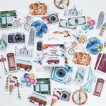 Adesivo decorativo para scrapbooking, adesivos decorativos para viagem, papelaria, kawaii, álbum de recortes, 1 peça