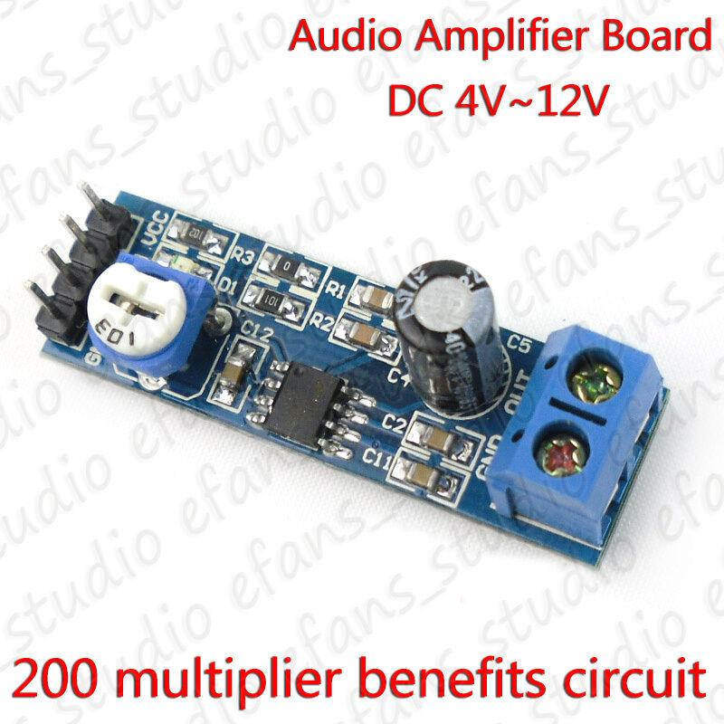 LM386 DC 5V 6V 12V Mini Micro Audio Amplifier Board Amp Module HIFI 200 Multiplier Benefits Circut