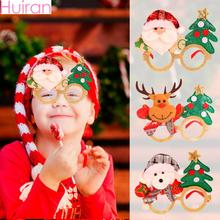 цена Huiran 2019 Christmas Glasses Gift Kids Merry Christmas Decorations For Home Xmas Ornaments Happy New Year 2020 Navidad Natal в интернет-магазинах