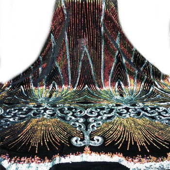 French Net Lace Latest African Velvet Lace Fabric With Sequins Embroidery Mesh Tulle Lace Good Quality