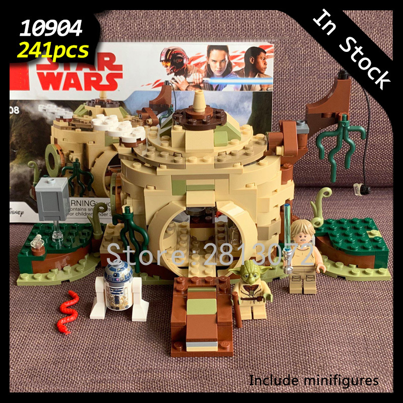 In Stock 10904 Star Wars Seriers The Empire Strikes Back Yoda's Hut 241pcs  Model Building Blocks Compatible With 75208 Toys