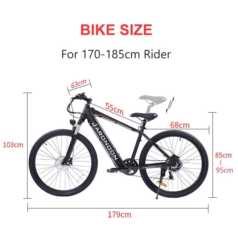 27.5 Inch Electric Bike,adopt 48V 15Ah Large Capacity Built-in Battery,500W Motor,Hydraulic Suspension Fork,Hydraulic Disc Brake