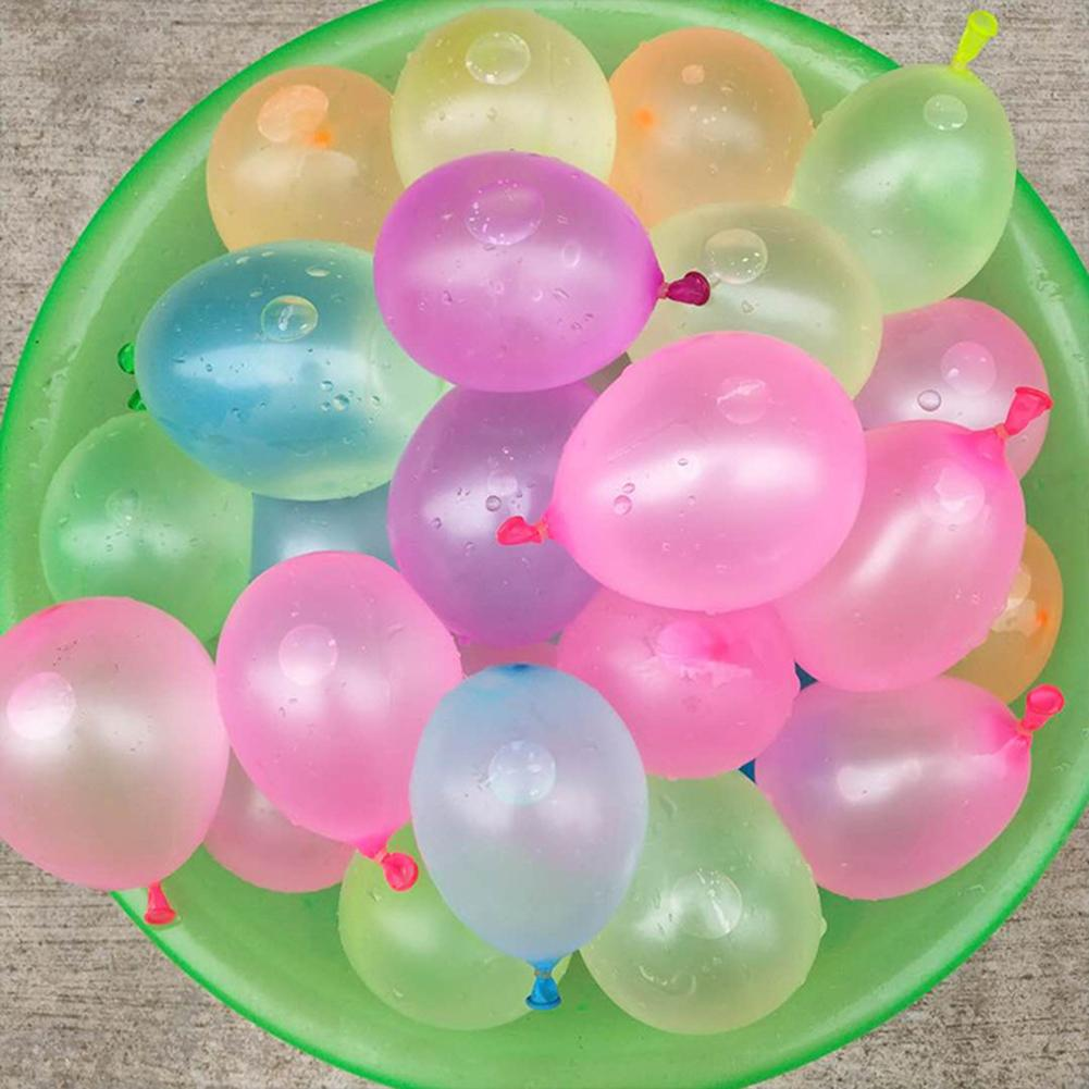 111pcs Multicolor Latex Water Balloons With Refill Easy Kit Latex Filling Water Bomb Ball Fight Games For Kids Adult Beach Toy