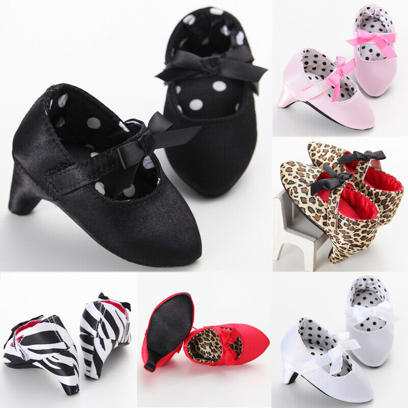 0-12M Infant Newborn Baby Girl High Heels Shoes Princess Bow First Birthday Party Shoes Photo Props Shoes