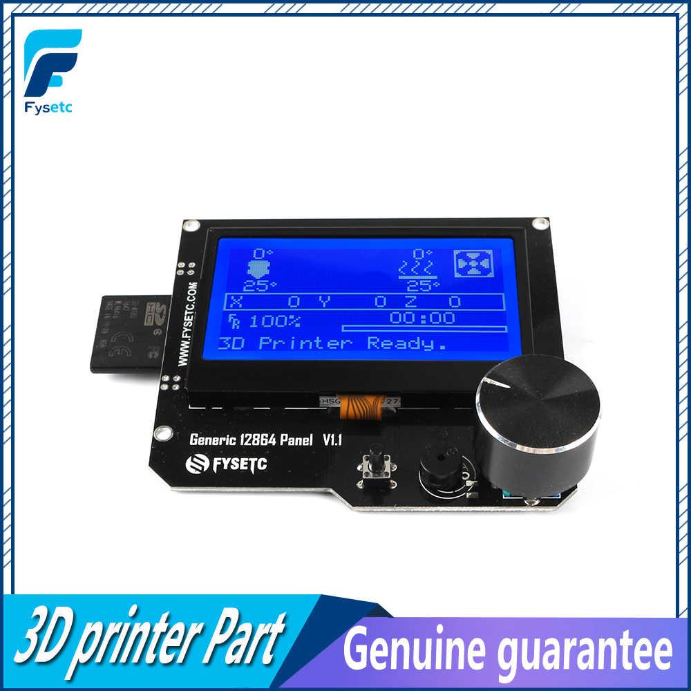 Panel genérico V1.1 para control inteligente pantalla LCD 12864LCD con soporte para tarjeta SD, compatible con CNC Marlin DIY para Cheetah F6 rampas, 12864