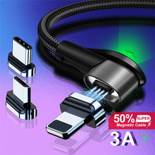 цена на Magnetic Cable Micro USB Type C Charging Cable For Samsung A50 iPhone 11 Pro Charger Fast Magnet cable USB C Cord Wires Adapter