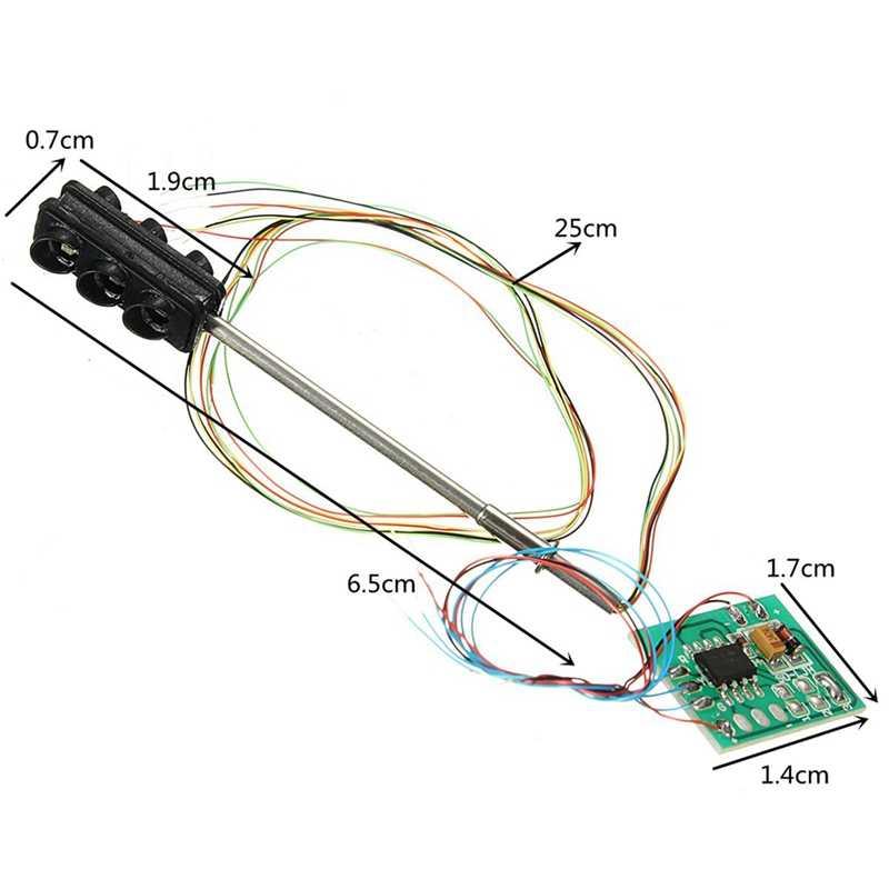 ABKT-3 kolor ruchu sygnały świetlne Ho Oo Model w skali 6Led dla Diy piaskownica stołowa przekraczania ulicy budowy kolejowego dwie boczne