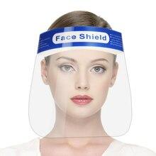 10 Uds máscaras de cara completa Anti-gotitas Anti-niebla a prueba de polvo protección facial cubierta protectora transparente cara ojos Protector máscara de seguridad