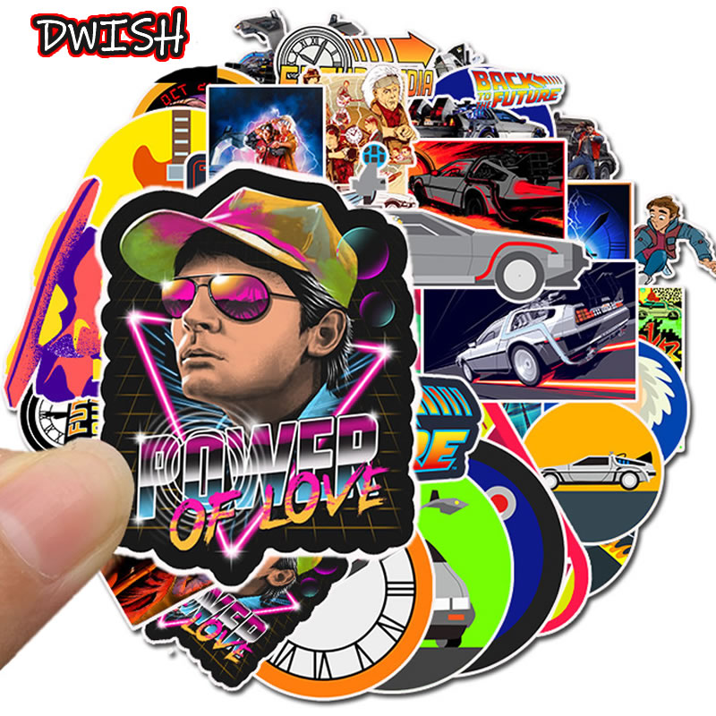 10/30/50pcs Movie Back To The Future Graffiti Stickers Skateboard Guitar Suitcase Freezer Children Funny Sticker Kid Classic Toy