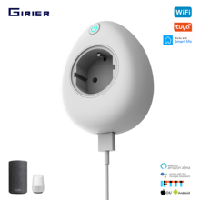 Wifi Socket Tuya Smart EU Power Plug with USB Port Power Monitor App/Voice Wireless Remote Control Works with Alexa Google Home