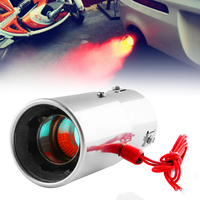 Newest Universal  Car Straight Spitfire Flaming LED Red Light Exhaust Pipe Muffler Tip|Mufflers| |  -
