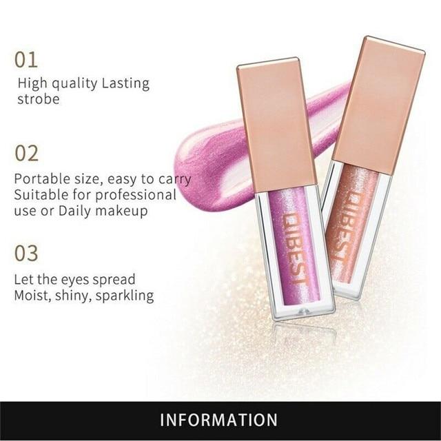 QiBest 15 Colors Glitter Liquid Eyeshadow Waterproof Lasting Shimmer Metallic Easy To Makeup Professional Eye Shimmer Eyeshadow 5