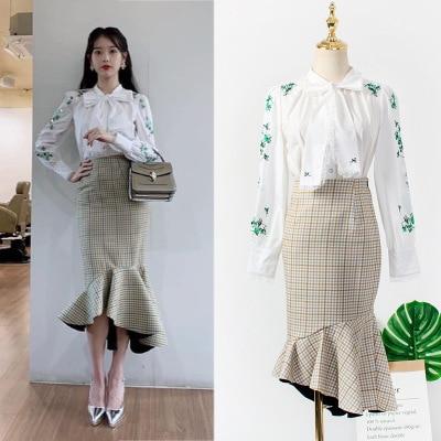 Butterfly Knot T-shirt +skirt For Women DEL LUNA Hotel Same IU Lee Ji Eun Maternity Clothes Summer Top Pregnancy Pregnant Coat