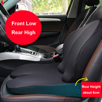 Memory Foam Car Seat Booster Cushions for Adults Height Women Black Car Seat Cover Booster High Back Support with Harness