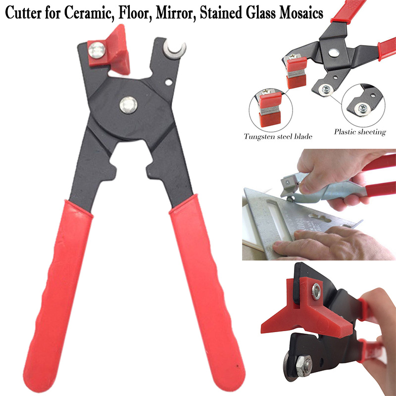 Amazing Tile And Glass Cutter For Ceramic, Floor, Mirror, Stained Glass Mosaics Tile Trimming Tool Pliers Tile And Glass Cutter