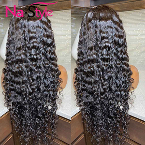Image 4 - 13x4 Lace Fronl Human Hair Wigs Fake Scalp Preplucked Bleached Knots Curly Human Hair Wigs Long Natural Peruvian Hair 150% Remy