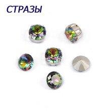 CTPA3bI 1357 Brilliant Cut Crystal Vitrail Medium Strass Beads For Jewelry Making Charming Needlework Point Back Accessories