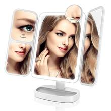 EASEHOLD 2x/5x/10x Magnifying Makeup Mirror Vanity 66 LEDs Rechargeable 3 Color Modes Adjustable 180 and 90 Degree Rotation