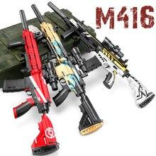 M416 explosão automática arma de água brinquedo crianças menino sniper rifle pistola pintura macia tiro ao ar livre brinquedo arma presente das crianças