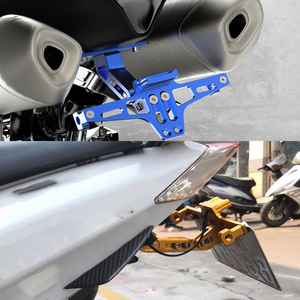 Image 5 - אופנוע אחורי לוחית רישוי הר מחזיק LED אור Moto סוגר מסגרת עבור ימאהה XJR400 Tenere 700 MXT850 Niken GT xt 660