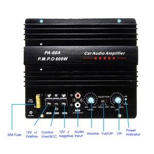 Image 1 - Altavoz PA 60A de 12V y 600W, Subwoofer, módulo de graves, accesorios de Audio de alta potencia para coche, tablero amplificador sin pérdidas duradero de canal único