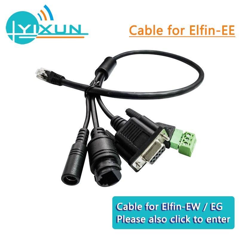 HF Elfin Series Serial Server Accessories Cable For Elfin-EE10/EE11/EW10(-0)/EW11(-0)/EG10/EG11 Suitable For Ethernet /GPRS/WIFI