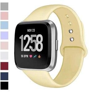 Image 1 - Ban Nhạc Dành Cho Fitbit Versa Dây Đeo Ngược Dây Khóa Thay Thế Vòng Đeo Tay Fitbit Versa Lite Dây Đeo Silicone Đồng Hồ Thông Minh Smartwatch Cổ Tay