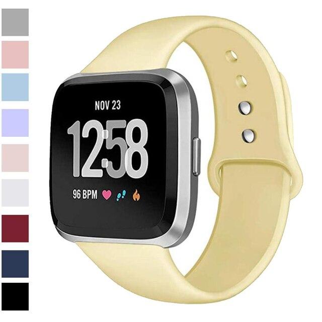 Ban Nhạc Dành Cho Fitbit Versa Dây Đeo Ngược Dây Khóa Thay Thế Vòng Đeo Tay Fitbit Versa Lite Dây Đeo Silicone Đồng Hồ Thông Minh Smartwatch Cổ Tay