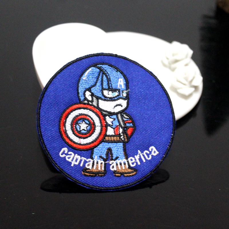 Pulaqi DIY Avengers <font><b>Patch</b></font> Sewing Iron On <font><b>Patches</b></font> On Clothes Embroidered <font><b>Patches</b></font> <font><b>For</b></font> <font><b>Clothing</b></font> <font><b>Marvel</b></font> <font><b>Patch</b></font> Cartoon Parche <font><b>Marvel</b></font> image